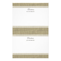 Treasured Hearts and Burlap Stationery