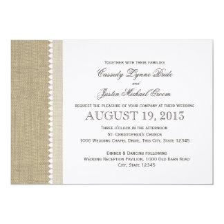 Treasured Hearts and Burlap Wedding Card