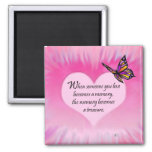 Treasured Memories Butterfly Poem 2 Inch Square Magnet