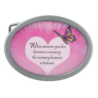 Treasured Memories Butterfly Poem Belt Buckle