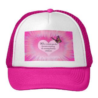 Treasured Memories Butterfly Poem Hats