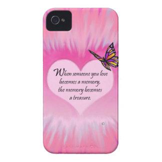 Treasured Memories Butterfly Poem iPhone 4 Cover