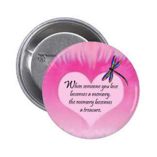 Treasured Memories Dragonfly Button