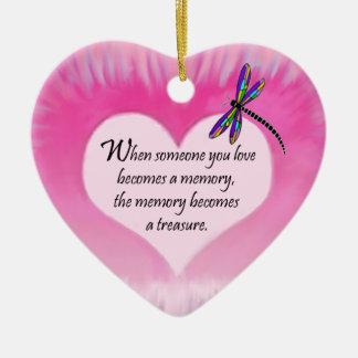 Treasured Memories Dragonfly Ceramic Ornament
