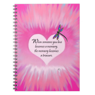 Treasured Memories Dragonfly Notebook