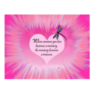 Treasured Memories Dragonfly Postcard