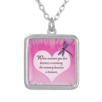 Treasured Memories Dragonfly Silver Plated Necklace