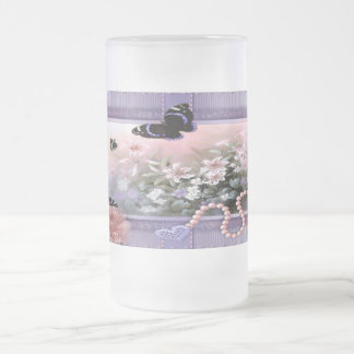 Treasured Memories - Frosted Glass Stein 16 Oz Frosted Glass Beer Mug
