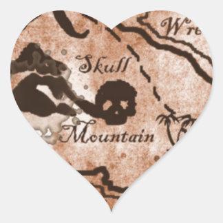 treasuremapfull.jpg pegatina en forma de corazón