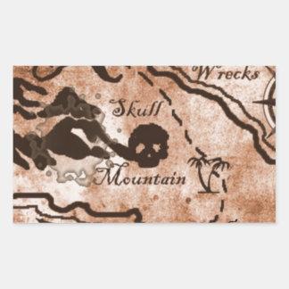 treasuremapfull.jpg rectangular sticker