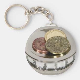 TreasureMirror110409 copy Basic Round Button Keychain