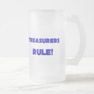 Treasurers Rule! Frosted Glass Beer Mug