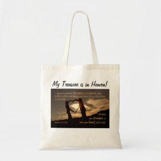 Treasures in Heaven Matthew 6:19-21 Bible Verse Tote Bag