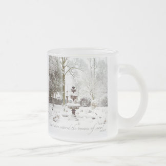 Treasures Of Snow Personalized Frosted Glass Mug
