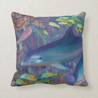Treasures of the Caribbean Throw Pillow