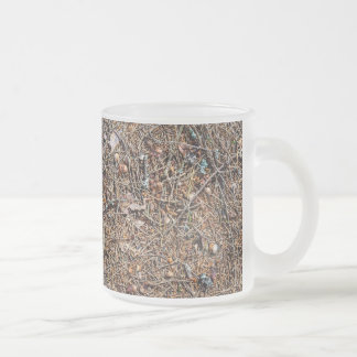 Treasures of the forest frosted glass coffee mug