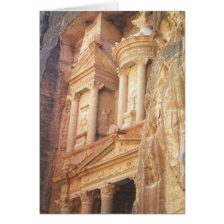 Treasury Building in Petra Card
