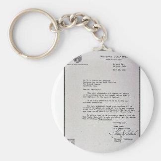 Treasury Department War Savings Staff Keychain