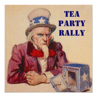 TREASURY & UNCLE SAM TEA PARTY RALLY INVITATION