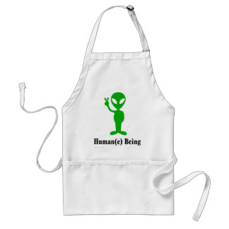 Treat all beings humanely and with respect apron