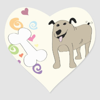 Treat Dog - Paw of Attraction Heart Sticker
