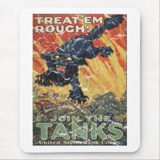 Treat 'Em Rough-1918 - distressed Mouse Pad