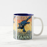 Treat 'Em Rough - Join the Tanks! Two-Tone Coffee Mug