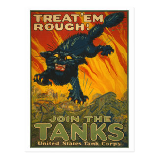 Treat 'em Rough - Join the Tanks Postcard