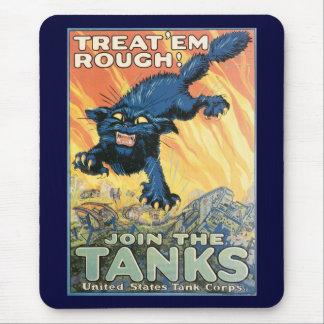 Treat Em Rough World War 2 Mouse Pad