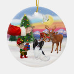 Treat for a Papillon Christmas Tree Ornament