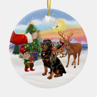 Treat for a Rottweiler Ceramic Ornament