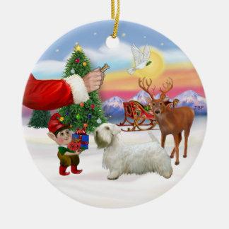 Treat for a Sealyham Terrier Ceramic Ornament