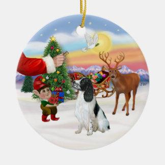 Treat for an English Springer Spaniel Ceramic Ornament