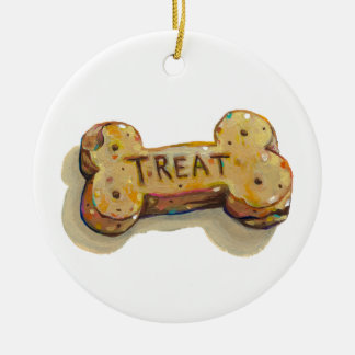 Treat for dog lovers fun art sitters trainers pets ceramic ornament