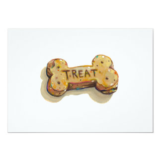Treat for dog lovers fun art sitters trainers pets custom announcement