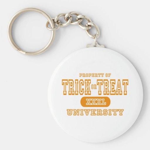 Treat ir Trick University Keychain