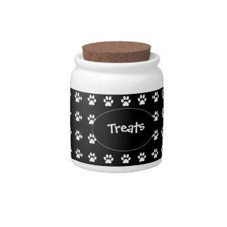 Treat Jar - B&W Treats Candy Dishes