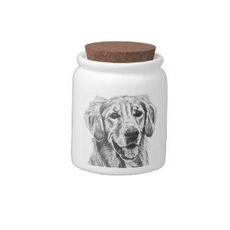 Treat Jar with Golden Retriever Candy Jar