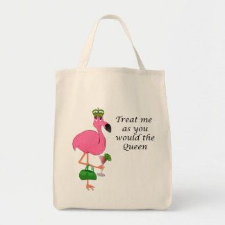 Treat Me As You Would the Queen Flamingo Tote Bag
