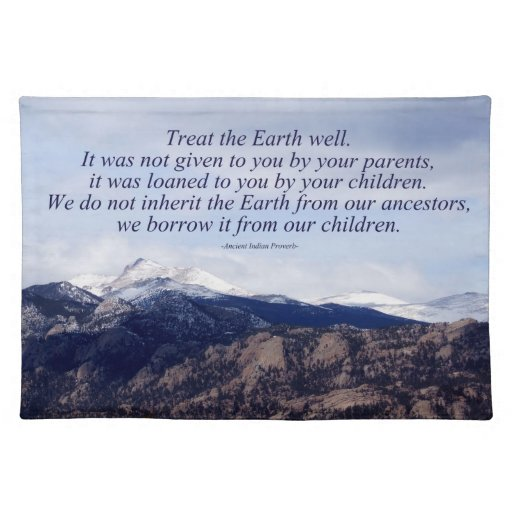 Treat the Earth Well Cloth Placemat