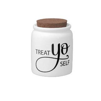 Treat Yo Self Candy Jar