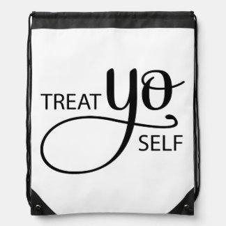 Treat Yo Self Drawstring Bag