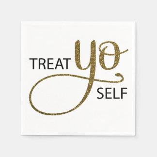 Treat Yo Self Gold Napkin