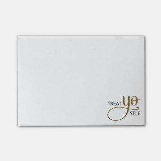 Treat Yo Self Gold Post-it® Notes