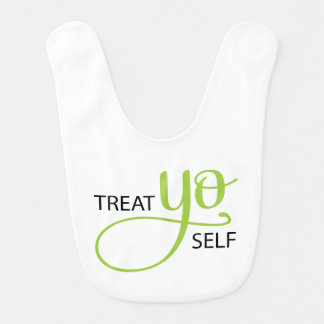 Treat Yo Self Lime Baby Bib