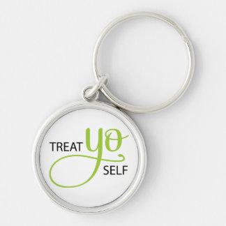 Treat Yo Self Lime Keychain