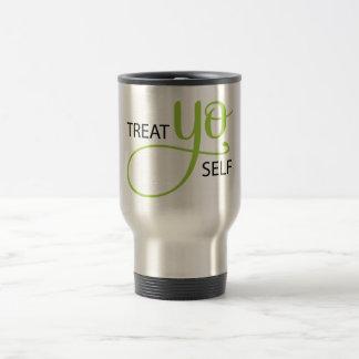 Treat Yo Self Lime 15 Oz Stainless Steel Travel Mug