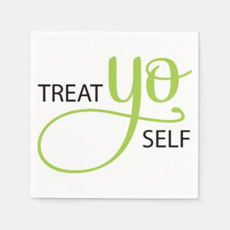 Treat Yo Self Lime Paper Napkin