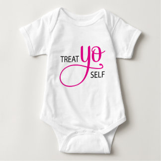 Treat Yo Self Pink Baby Bodysuit