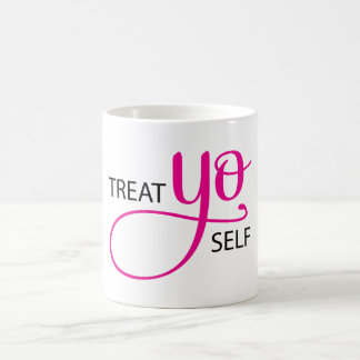 Treat Yo Self Pink Coffee Mugs